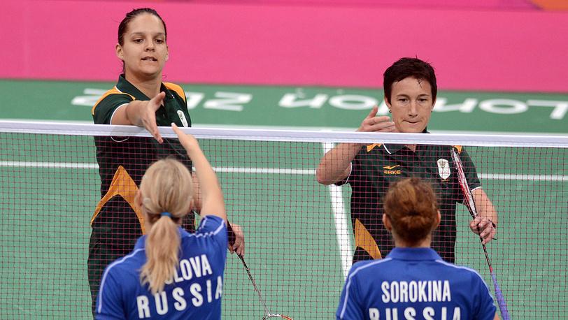 Россиянки Валерия Сорокина и Нина Вислова вышли в полуфинал олимпийского турнира по бадминтону в парном разряде