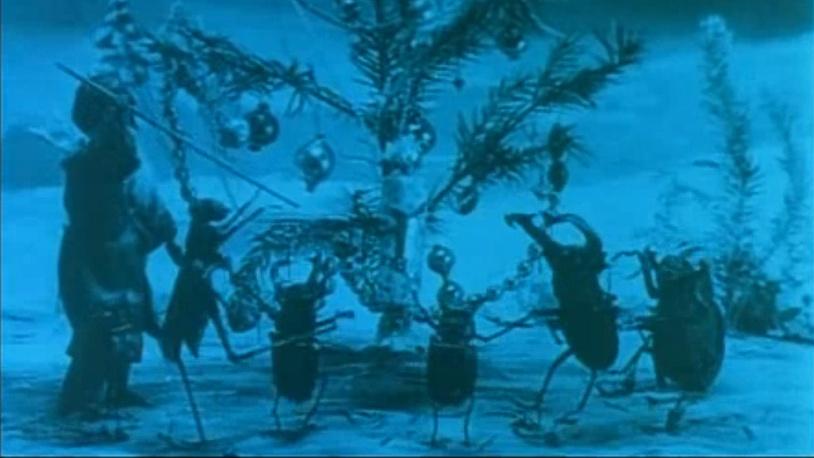 Первый российский мультфильм «Рождество у обитателей леса» 1913 год