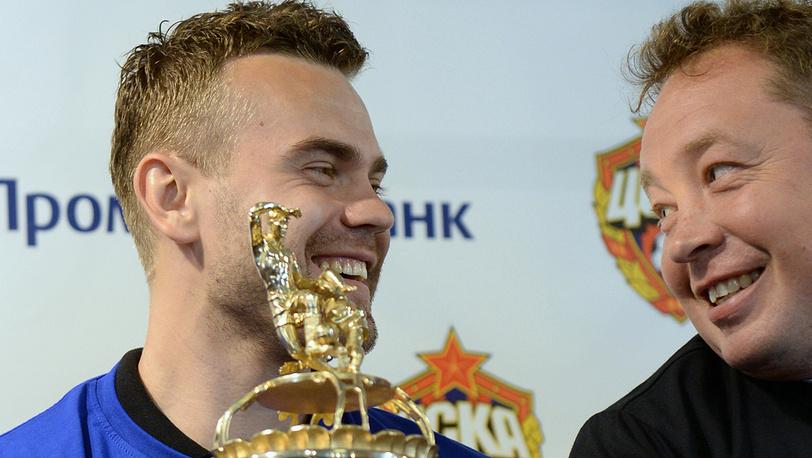 Игорь Акинфеев и Леонид Слуцкий