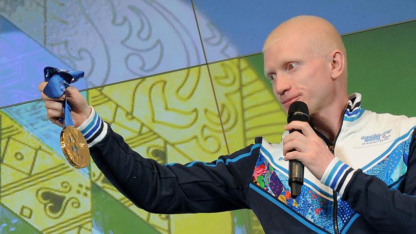 Российский спортсмен Федор Триколи на презентации