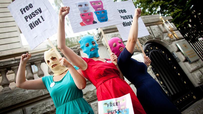 9 августа. Акция в поддержку Pussy Riot в Берлине