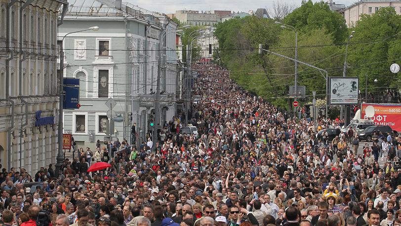Шествие по Бульварному кольцу