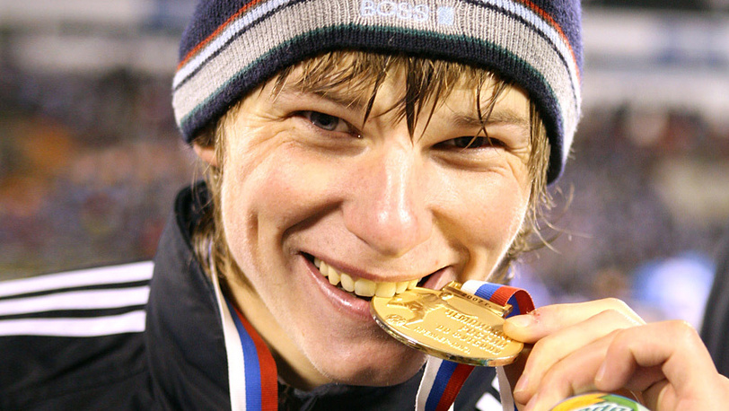 На церемонии награждения победителя чемпионата России по футболу 2007