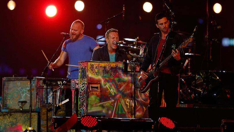 Британская рок-группа Coldplay