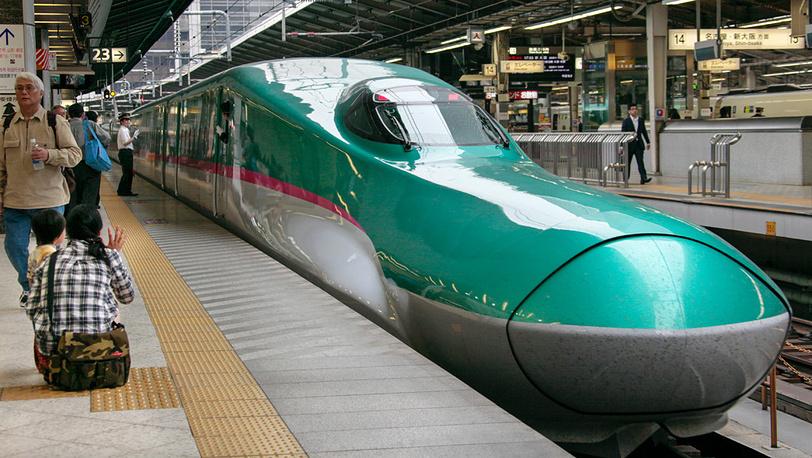 Скорость у японского поезда - до 443 км в час