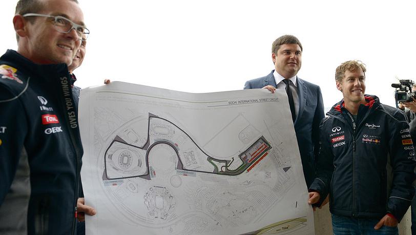 Андреас Сигль, Николай Бутурлакин и Себастьян Феттель
