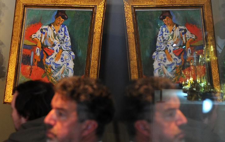 "Картина Андре Дерена ""Мадам Матисс в кимоно"""