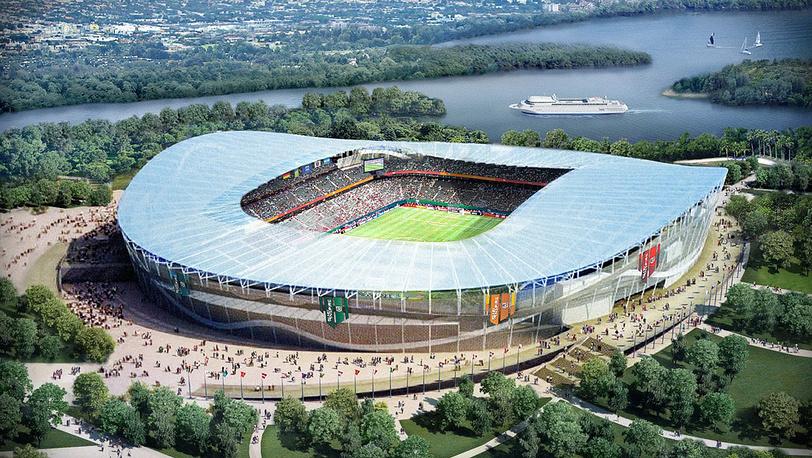 Макет стадиона в Казани