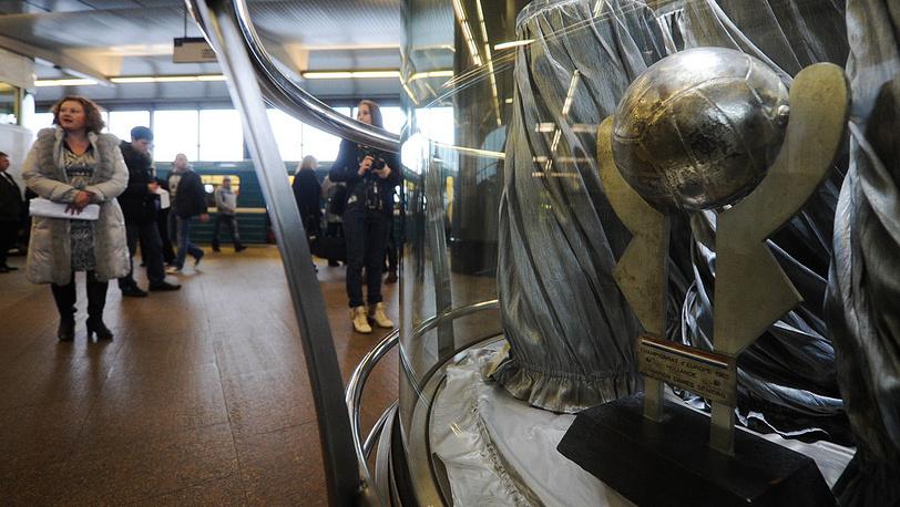 """На выставке Центрального музея физической культуры и спорта на станции метро """"Воробьевы горы"""""""