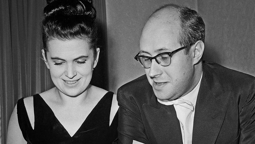 С Мстиславом Ростроповичем. 1962 год