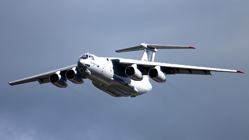 Транспортный самолет Ил-76 МД-90А. Фото ИТАР-ТАСС/ Марина Лысцева