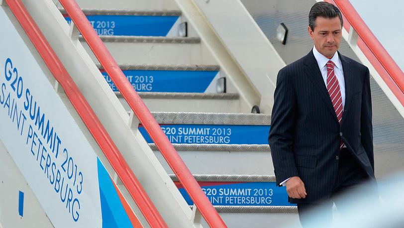 Президент Мексики Энрике Пенья Ньето. EPA/ALEXANDER VILF / POOL
