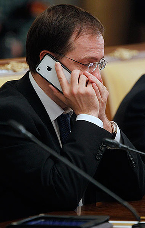 Министр культуры РФ Владимир Мединский. Фото ИТАР-ТАСС/ Дмитрий Астахов