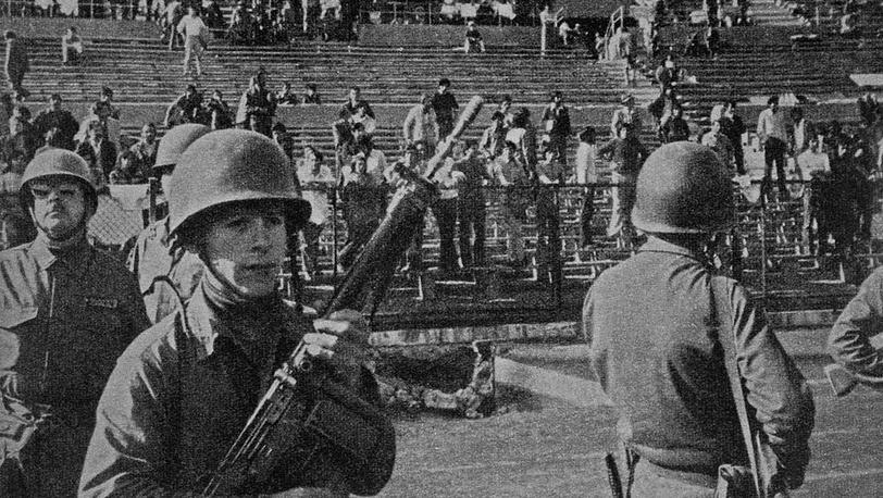 Стадион в Сантьяго. 1972. Фото ИТАР-ТАСС
