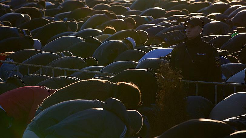 Мусульманский праздник Курбан-байрам в Москве. Фото AP Photo/Ivan Sekretarev