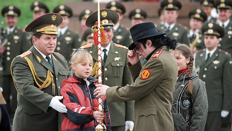 Майкл Джексон во время визита в Москву, 1996 г.
