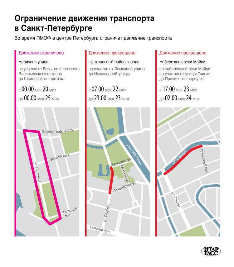 Ограничение движения транспорта в Санкт-Петербурге