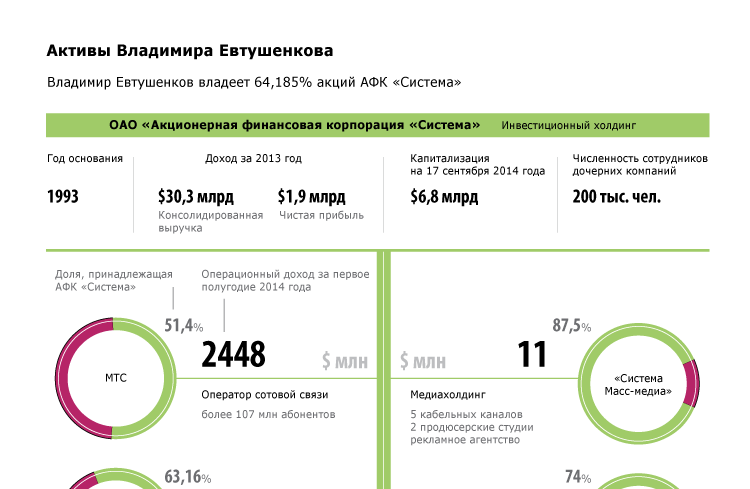 Активы Владимира Евтушенкова