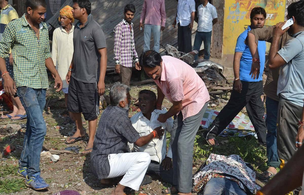 Число жертв взрыва в центральной Индии достигло 104 человек