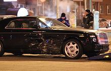 Rolls-Royce миллиардера Александра Аристова после ДТП в Челябинске