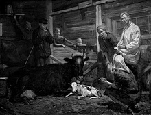 """Дипломная работа Ильи Глазунова """"На колхозной ферме"""""""