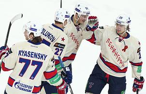 Хоккеисты СКА (Фото - ИТАР-ТАСС/Станислав Красильников)