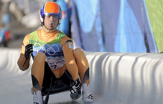 Индийский саночник, участник четырех олимпиад Шива Кешаван
