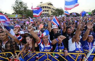 Антиправительственные выступления в Бангкоке