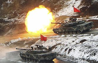 Танки К1 армии Южной Кореи во время учений Key Resolve, 2012