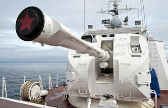 Сторожевой катер пограничного Сахалинского Управления береговой охраны ФСБ