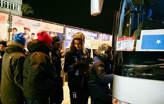 Игроки сборной Сомали по хоккею с мячом