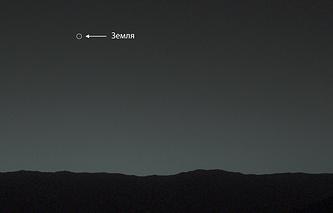 Фотография Земли, сделанная марсоходом Curiosity с поверхности Марса