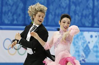Американские фигуристы Мэрил Дэвис и Чарли Уайт выиграли короткую программу в соревнованиях танцевальных дуэтов на Олимпиаде в Сочи с результатом 78,89 балла
