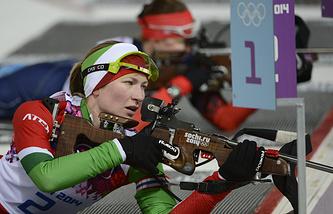 Дарья Домрачева в масс-старте