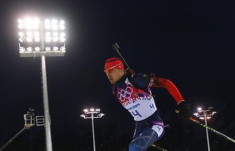 Антон Шипулин  Эстафета на XXII зимних Олимпийских играх