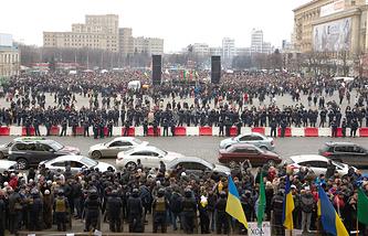 Митинг в защиту Харькова на площади Свободы