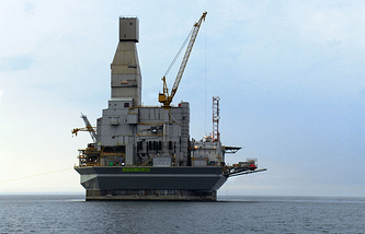 """Морская платформа для добычи нефти и газа на шельфе Сахалина в рамках проекта """"Сахалин-1"""""""