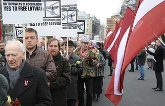 Шествие бывших легионеров Waffen SS и их сторонников в Риге, 2012 год