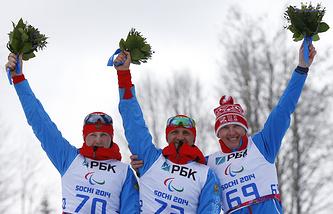 Григорий Мурыгин, Роман Петушков, Александр Давидович (слева направо)