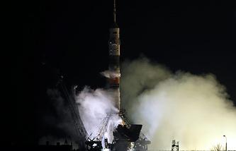 "Запуск космического корабля ""Союз ТМА-12М"""