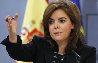 Заместитель председателя испанского правительства Сорайя Саенс де Сантамария