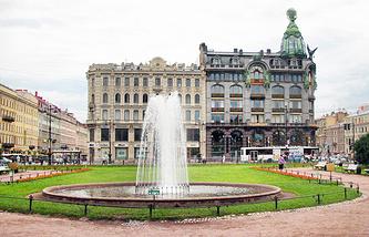 Фонтан на Казанской площади