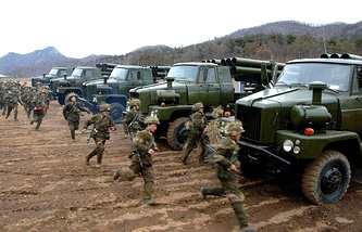 Военные учения армии КНДР