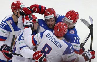 Хоккеисты российской команды
