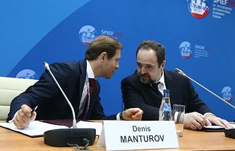 Министр промышленности и торговли РФ Денис Мантуров и министр природных ресурсов и экологии РФ Сергей Донской