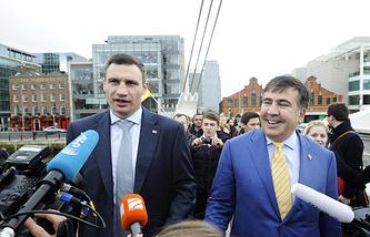 Виталий Кличко и Михаил Саакашвили
