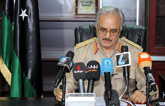 Отставной генерал Халифа Хафтар