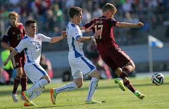 Последний товарищеский матч сборной России - против команды Словакии (1:0)