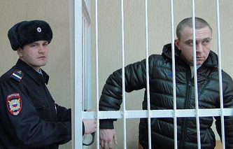 Алексей Мозго(справа) в зале суда