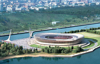 Макет стадиона в Нижнем Новгороде